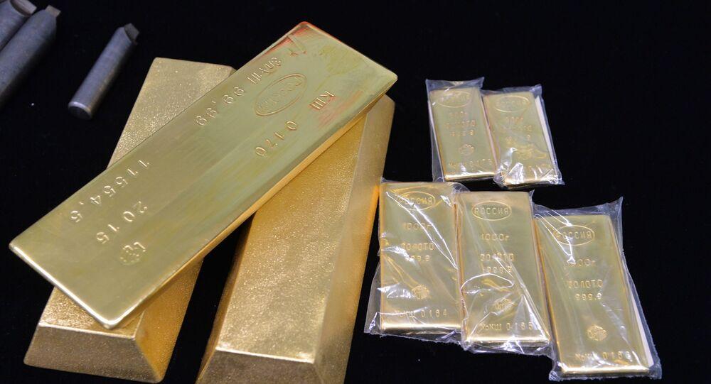 Barras de ouro comercializadas no mercado internacional