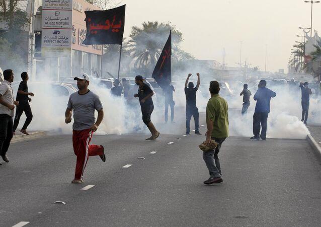 Manifestantes da oposição em Bahrein