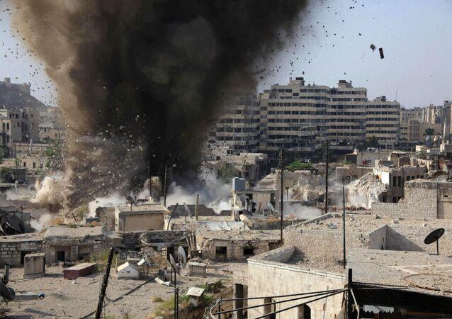 Explosão em Aleppo.