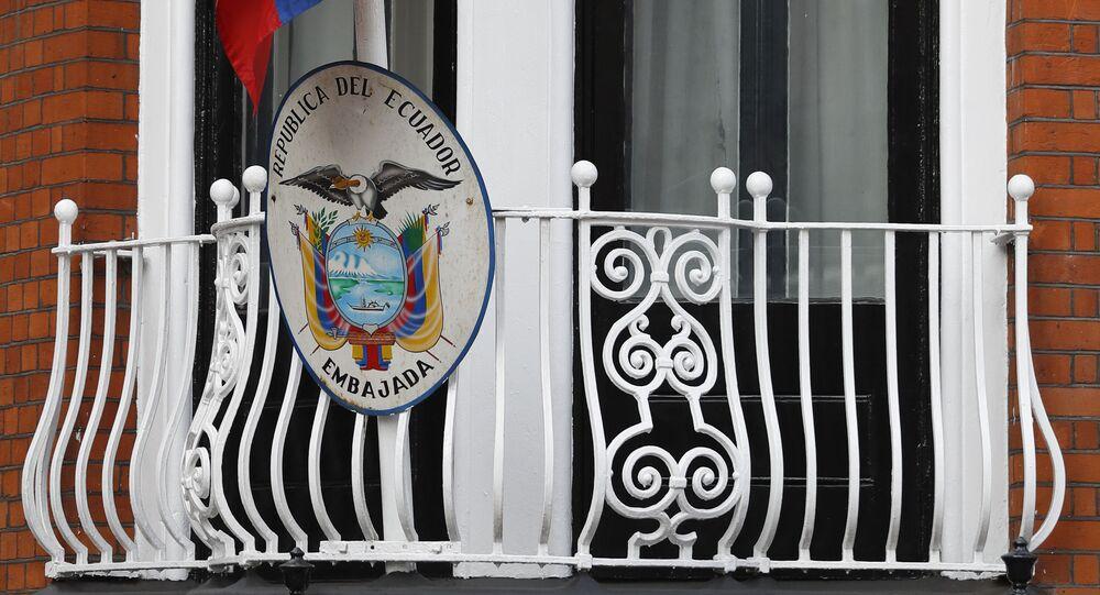 Embaixada do Equador em Londres, aonde ficou asilado por sete anos o jornalista Julian Assange