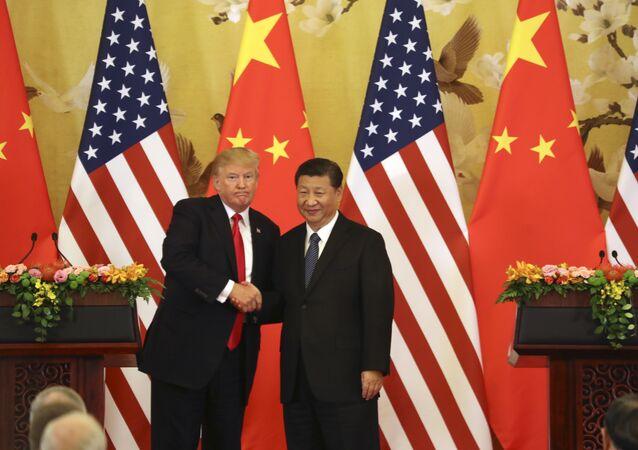 Donald Trump, presidente dos EUA, e Xi Jinping, presidente da China