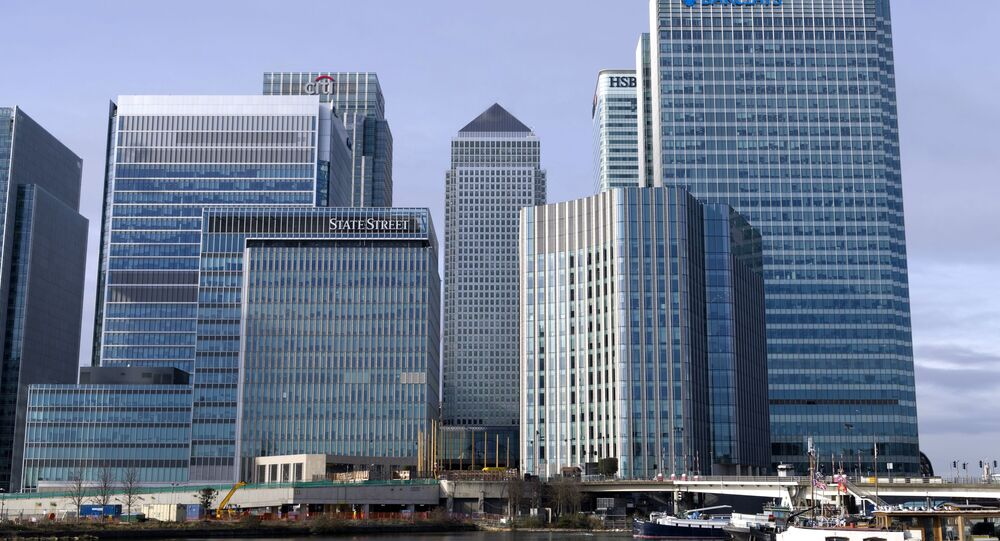 Bancos no distrito financeiro de Londres, a chamada London City