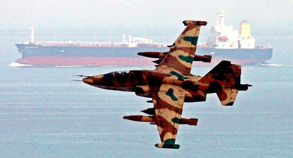 Uma aeronave militar iraniana do Corpo de Guardiões da Revolução Islâmica