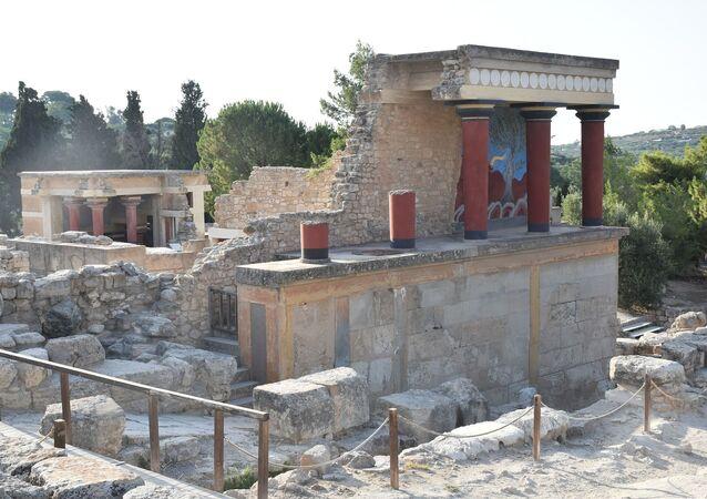 Sítio arqueológico de Cnossos na ilha de Creta (imagem referencial)