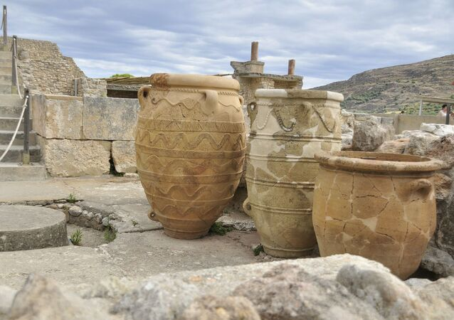 Vasos do antigo Palácio dos Cnossos