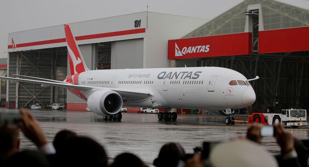 Avião Boeing 787 Dreamliner da empresa australiana Qantas