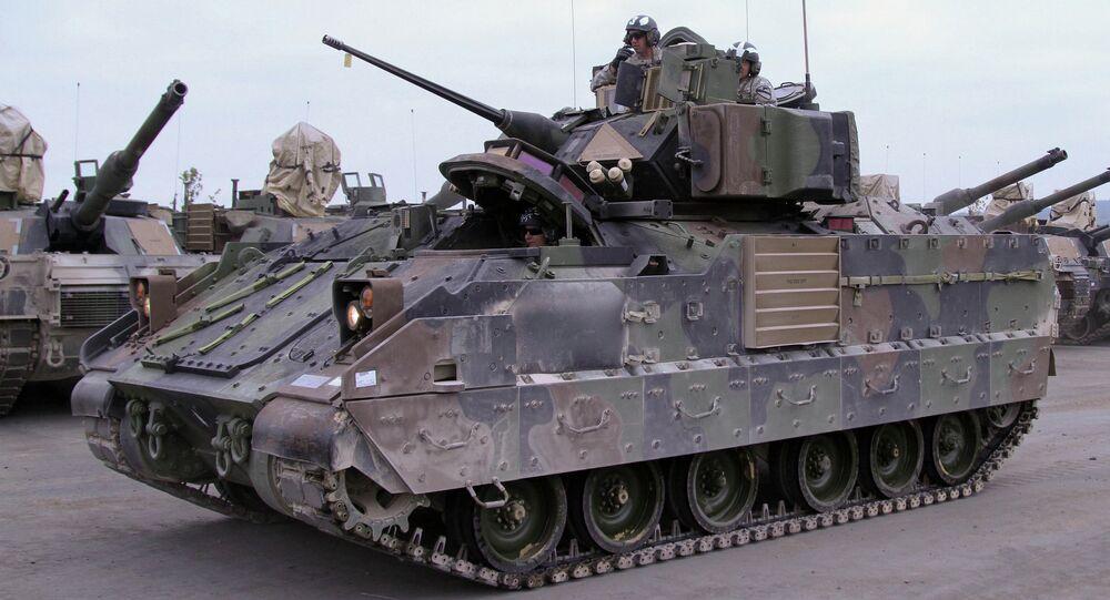 Veículo blindado Bradley dos EUA (foto de arquivo)