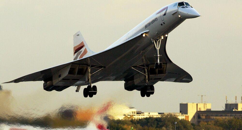 Avião Concorde no aeroporto de Londres
