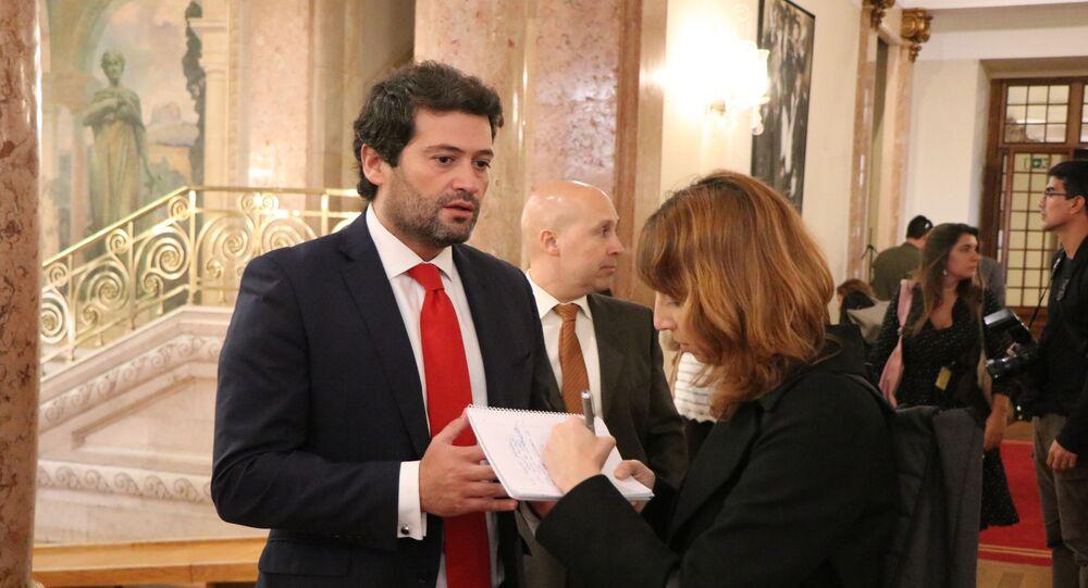 O deputado português André Ventura, único eleito pelo estreante partido Chega