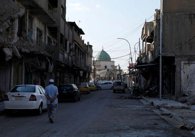 Mesquita de Al-Nouri, onde o líder do Daesh (organização terrorista proibida na Rússia e demais países), Abu Bakr al-Baghdadi, declarou seu califado em 2014, na antiga cidade de Mossul