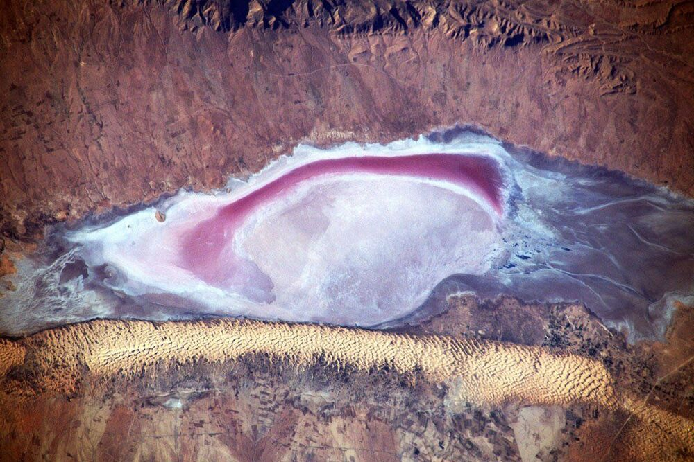 África vista de dentro da Estação Espacial Internacional (EEI)