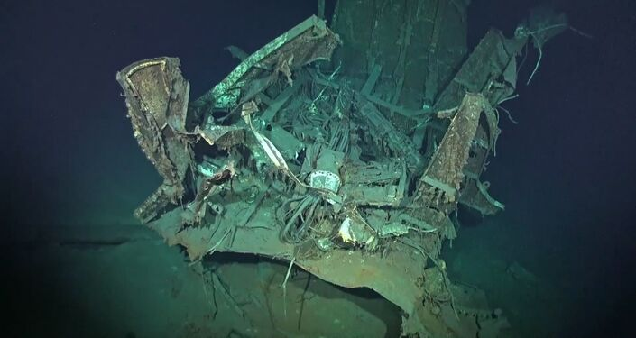 Possíveis restos do destróier americano USS Johnston (DD-557) afundado durante a Batalha do Golfo de Leyte em 1944