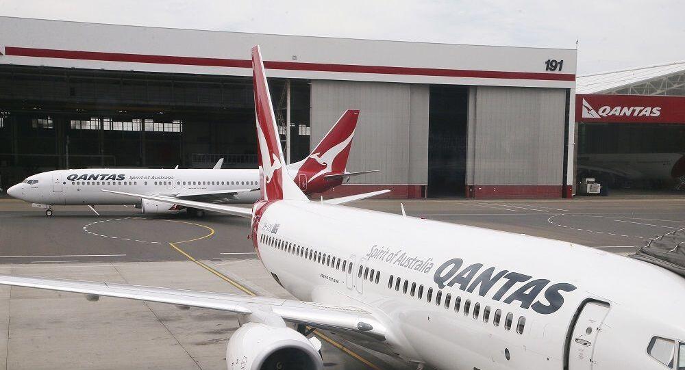Aeronaves Boeing 737 da companhia aérea australiana Qantas