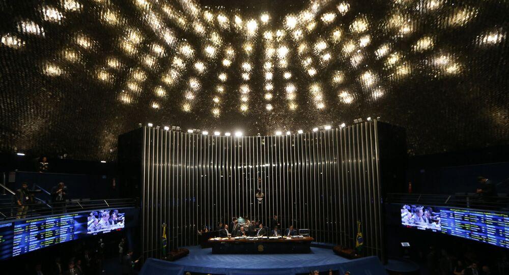 Plenário do Senado Federal, em Brasília (DF).