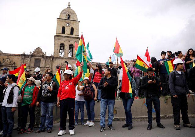 Protestos em Bolívia