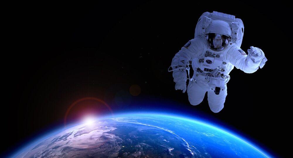 Um astronauta  estadounidense (imagen referencial)