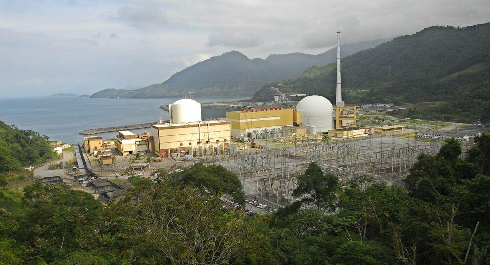 Usinas Nucleares Angra 1 e Angra 2, em Angra dos Reis (RJ).