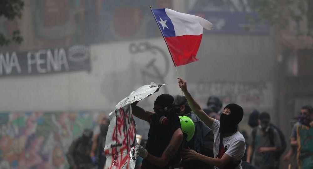 Protestos antigovernamentais em Santiago, Chile