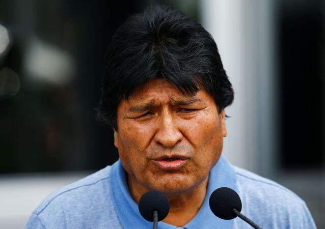 Presidente deposto da Bolívia, Evo Morales, em entrevista após chegar ao México, aonde recebeu asilo político, em 12 de novembro de 2019