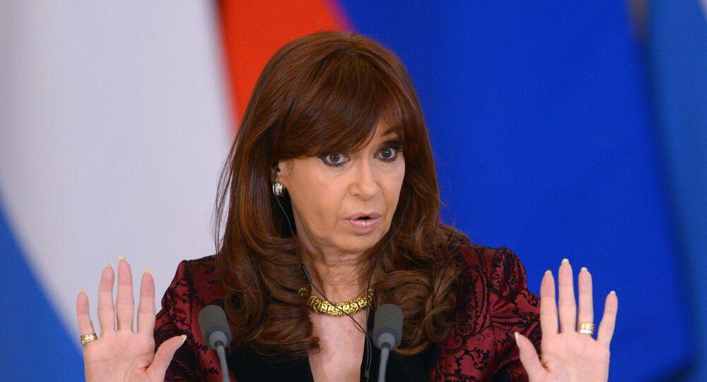 Cristina Kirchner, presidenta da Argentina entre 2007 e 2015 e atual vice presidenta eleita do país sul-americano.