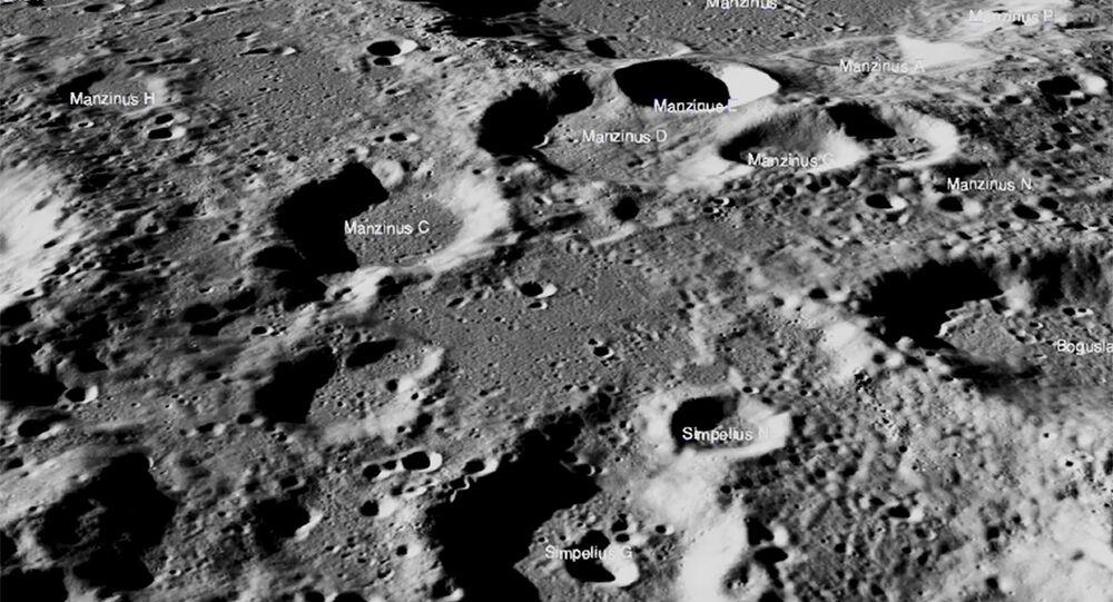 Local do pouso do módulo da Chandrayaan-2, nave espacial Vikram, que tentou pousar em 7 de setembro de 2019 na Lua