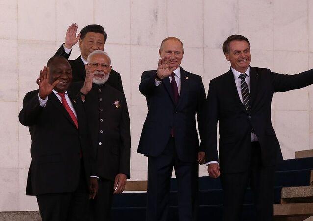 Líderes dos países membros do BRICS em Brasília (foto de arquivo)