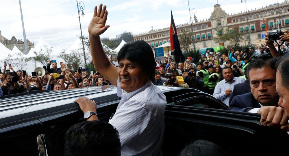 Evo Morales, ex-presidente de Bolívia