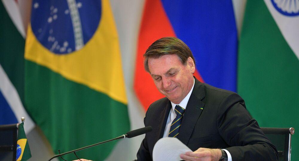 Jair Bolsonaro, presidente do Brasil, durante 11ª Cúpula de Chefes de Estado do BRICS, celebrada entre os dias 13 e 14 de novembro de 2019