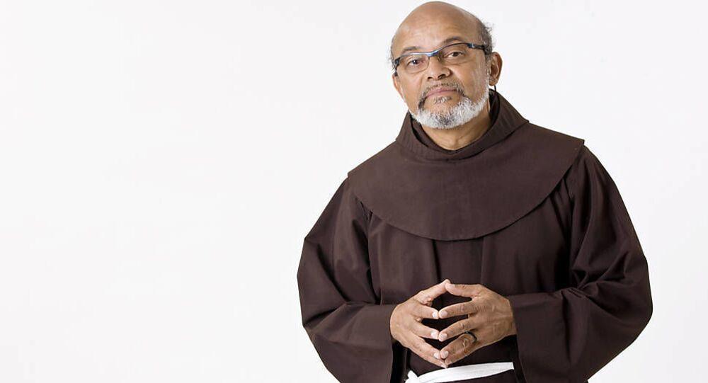 Retrato do Frei David Santos, da ONG Educafro