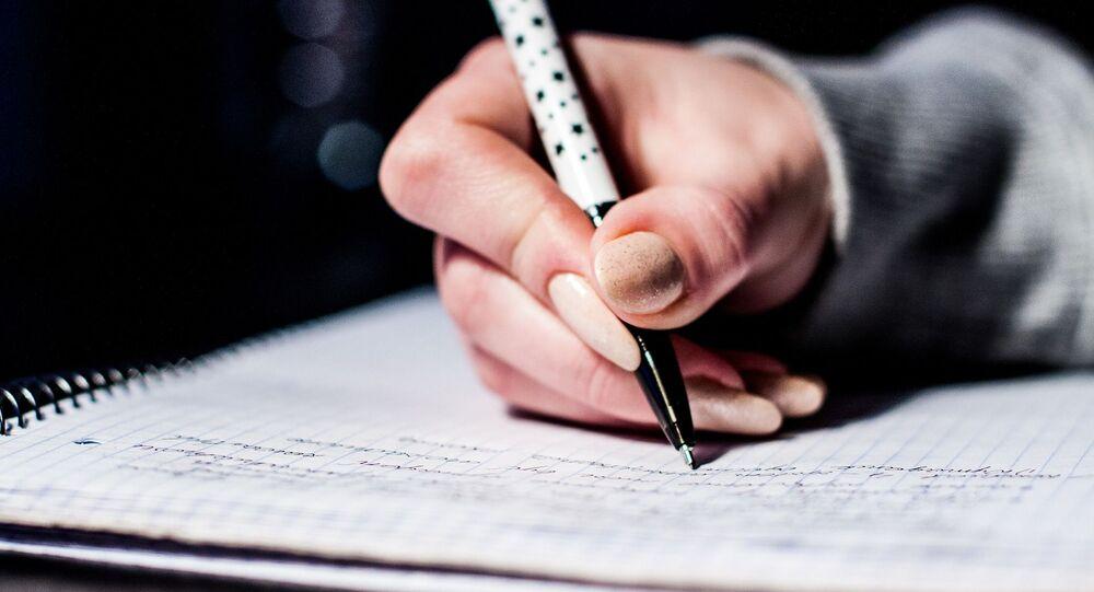 Escrevendo (imagem ilustrativa)