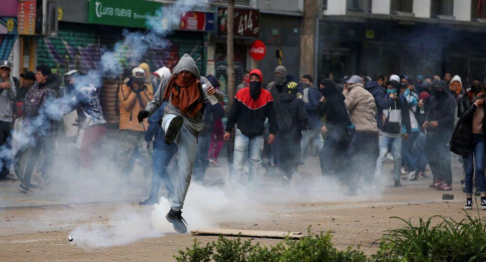 Protestos em Bogotá, Colômbia
