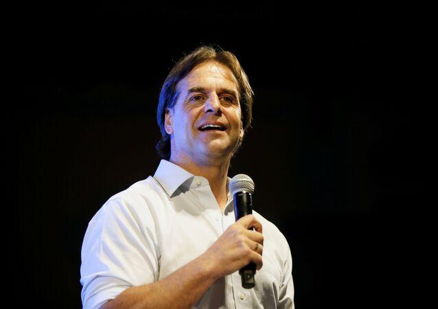 Luis Lacalle Pou, candidato presidencial uruguaio.