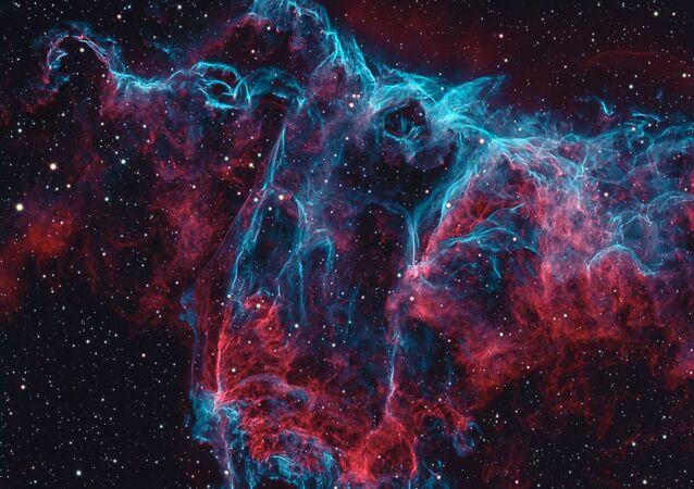 Imagem da nebulosa NGC 6995