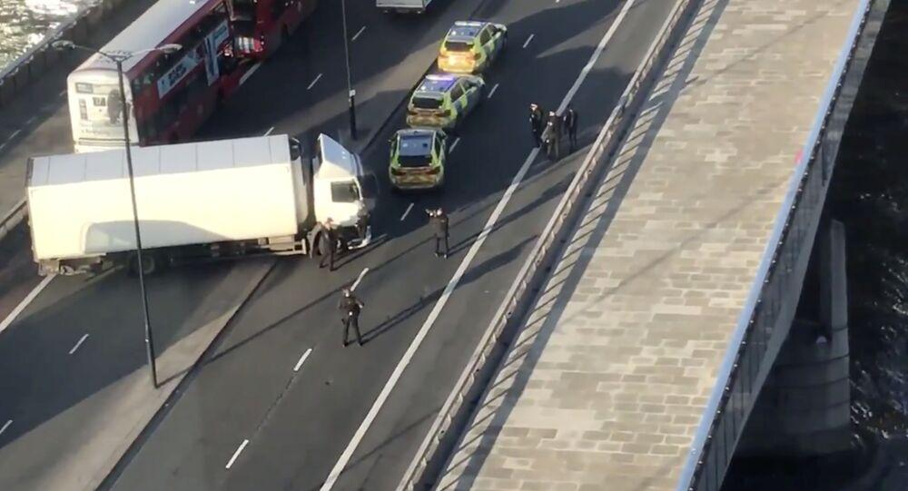 Ataque com faca e tiroteio na Ponte de Londres (London Bridge), Reino Unido, nesta sexta-feira, 29 de novembro de 2019