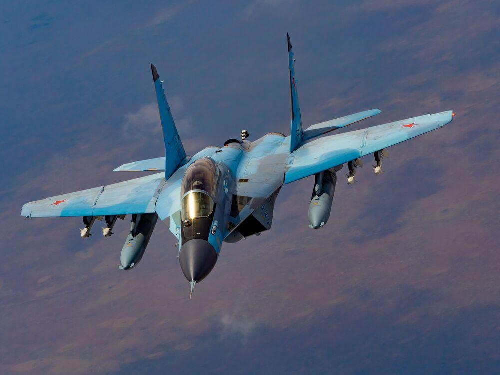 Caça russo polivalente de quarta geração MiG-29K, da aviação embarcada