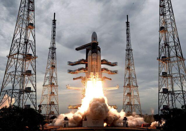 Lançamento da missão lunar Chandrayaan-2, da Índia