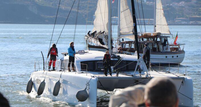Greta Thunberg chegou em Lisboa em 3 de dezembro, 21 dias depois de sair dos EUA a bordo de um veleiro