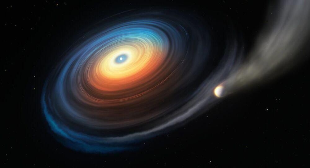 Estrela anã branca WDJ0914+1914 e seu exoplaneta