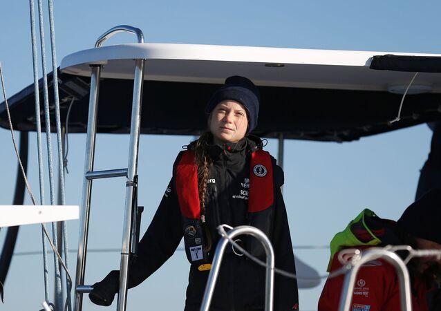 A ecoativista sueca Greta Thunberg