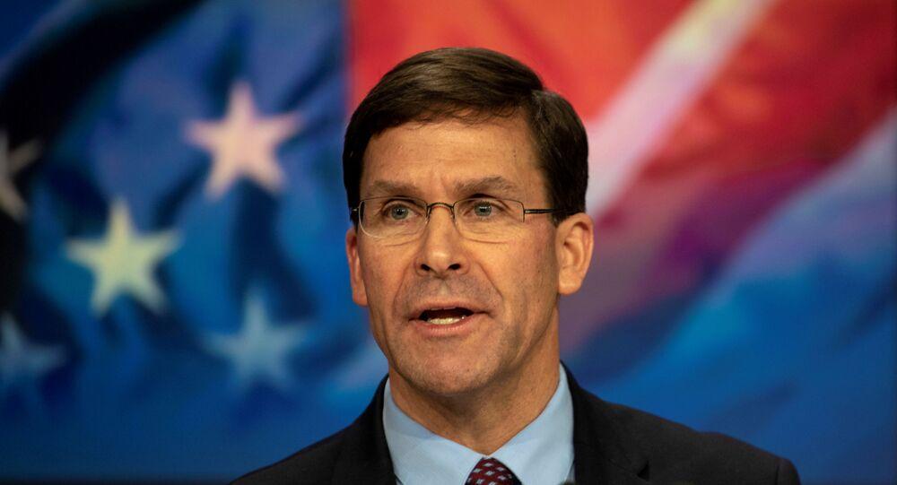 Secretário de Estado dos EUA, Mark Esper (foto de arquivo)