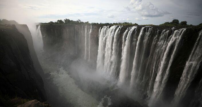 Cataratas de Vitória, Zimbabué, em 17 de janeiro de 2019