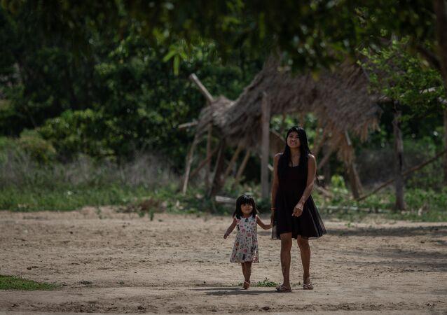 Índios da etnia Guajajara, no Maranhão
