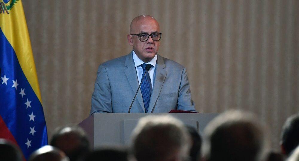 Jorge Rodríguez, ministro da Comunicação e Informação da Venezuela
