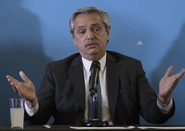 Presidente eleito argentino Alberto Fernández