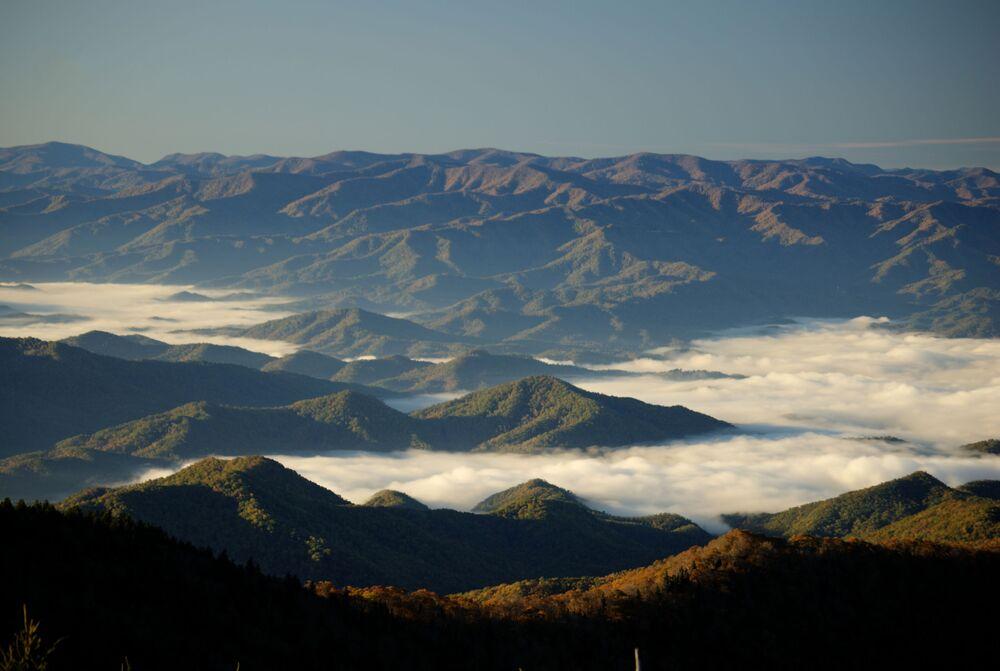 Vista de uma das montanhas Great Smoky, EUA
