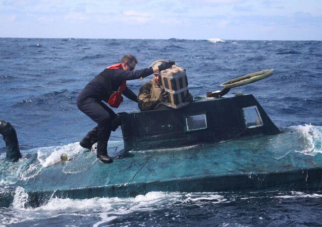 Guarda costeira apreende narcosubmarino em operação nos Estados Unidos