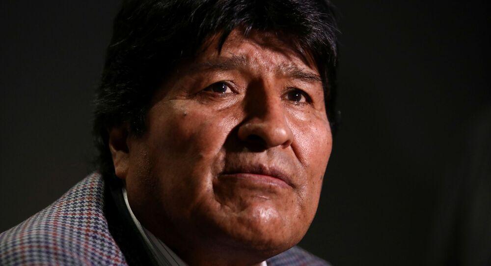 Evo Morales durante asilo na Cidade do México, em novembro de 2019