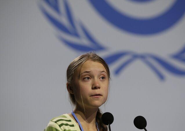 Ativista sueca Greta Thunber em conferência do clima da ONU em Madri, Espanha