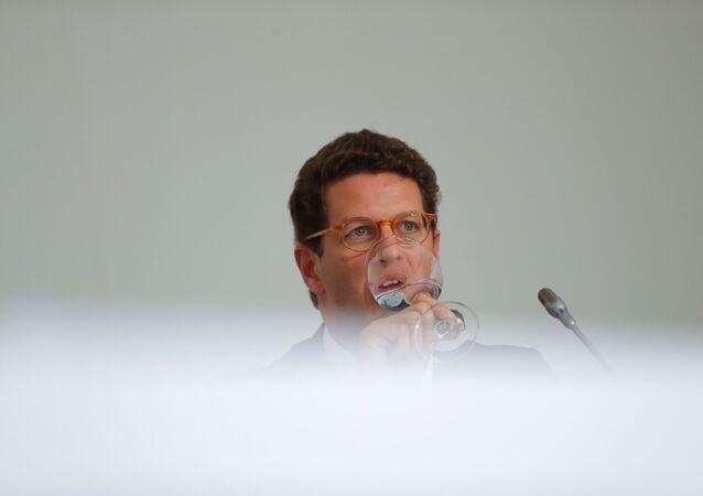 Ricardo Salles, ministro do Meio Ambiente do Brasil, durante a COP25, na Espanha.