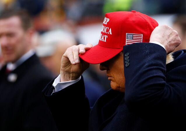 Donald Trump durante compromisso de campanha na Filadélfia, nos Estados Unidos